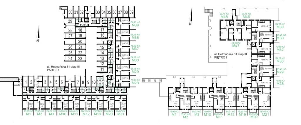 UL. HETMAŃSKA ETAP III parter i piętro I