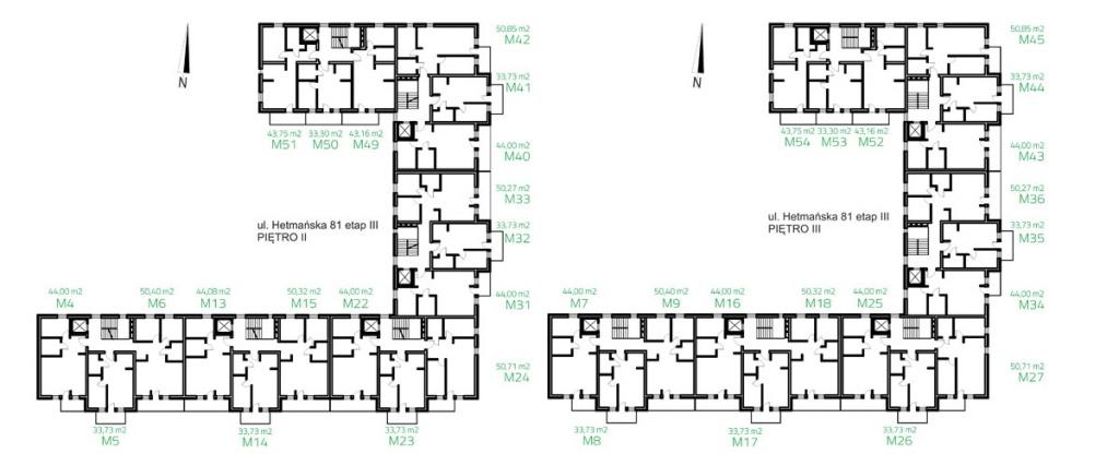 UL. HETMAŃSKA ETAP III piętro II i III